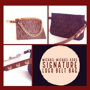 Michael Kors Signature Logo Belt Bag